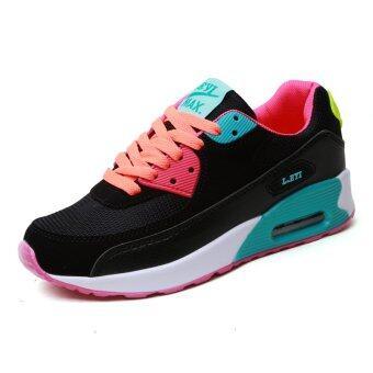 YINGLUNQISHI แฟชั่นรองเท้ากีฬาสตรีรองเท้าผ้าใบเดิน J22 (สีม่วง (QiCai))
