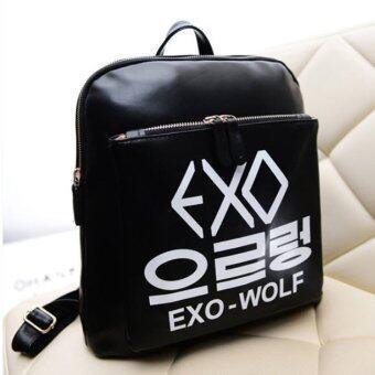 EXO wolf กระเป๋าสะพายหลัง สีดำ