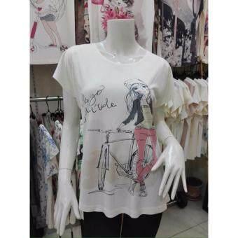 November T Shirts เสื้อยืดฟรีไซส์ เสื้อผู้หญิงสรีนลายน่ารัก รหัส L100 N009