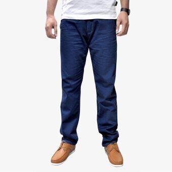 OASIS กางเกงขายาวผู้ชาย รุ่น Chino Pants MCHL8612-NB สีน้ำเงิน