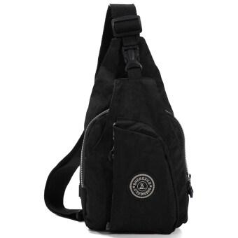กระเป๋าถือผลิตกระเป๋าหน้าอกไหล่ห่อเส้นสีดำ