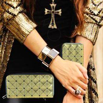 Nuchon Bag Women Wallet กระเป๋าสตางค์ กระเป๋าสตางค์ใส่มือถือ Iphone6 Plus Size L สีทอง รุ่น RichGold Bao Bao Issey