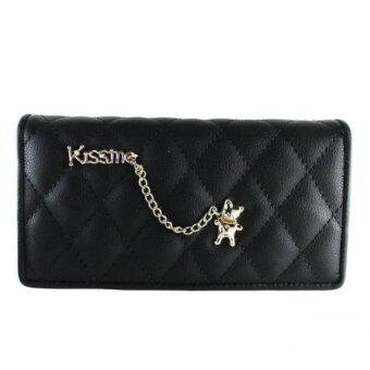กระเป๋าสตางค์ผู้หญิงใบยาว (สีดำ)