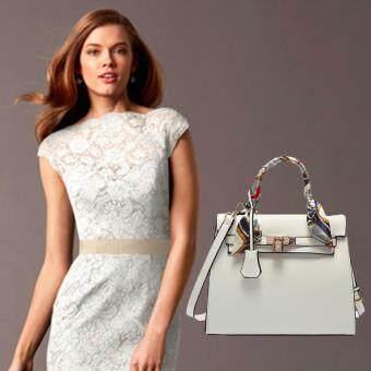 Nuchon Bag กระเป๋าสะพายข้าง แบบมีหูหิ้ว รุ่น Kerlly01 (White)