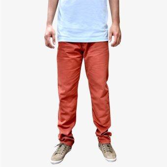 OASIS กางเกงขายาวผู้ชาย รุ่น Chino MCHL8612-OR สีส้มอิฐ
