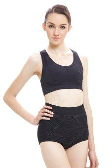 Mary Eve anti-cellulite high waist underwear กางเกงในกระชับหน้าท้อง (สีดำ)