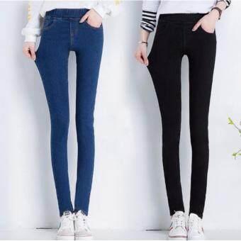 กางเกงยีนส์ ·Quilla Denim Jeans Collection 2017 (Black Color)