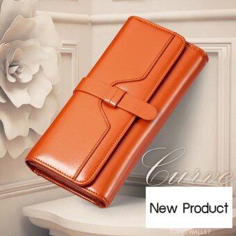 Maylin Bags กระเป๋าสตางค์ใบยาว กระเป๋าเงินผู้หญิง กระเป๋าสตางค์ ผู้หญิง รุ่น MW-001 (น้ำตาล)