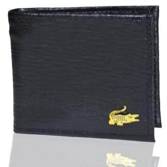 NuChon Men Wallet Crocodile กระเป๋าเงิน กระเป๋าหนัง กระเป๋าสตางค์ ผู้ชาย รุ่น CD088 - Short/สีดำ