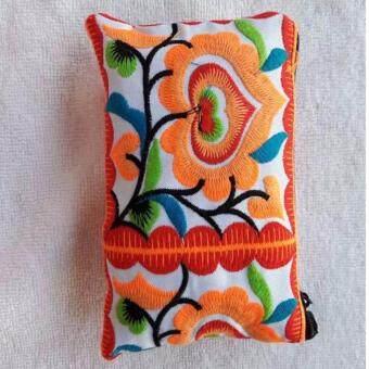 Argento88 กระเป๋างานHandmade แบบปักลายสวยงาม สีส้ม