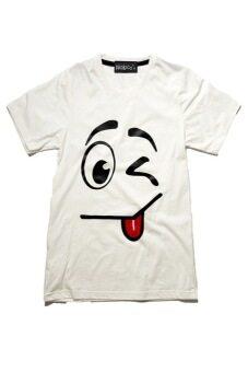 NOLOGO เสื้อยืดเด็ก รุ่น แลบลิ้นเล็ก (สีขาว)