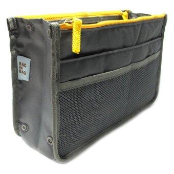 HHsociety กระเป๋าจัดระเบียบ Bag in Bag - สีเทา/เหลือง