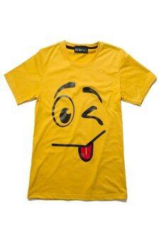 NOLOGO เสื้อยืดเด็ก รุ่น แลบลิ้นเล็ก (สีเหลือง)
