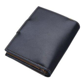กระเป๋าสตางค์ยาวซิปคนโทรศัพท์มือถือบัตรเครดิตตัวสีน้ำเงิน