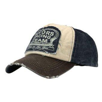 หมวกผ้าหมวกเบสบอลเพศรถจักรยานยนต์ขอบหมวกเบสบอลกาแฟบดปรับได้-ในประเทศ