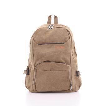 Bag Gammon Traveller กระเป๋าเป้แคนวาส (สีกากี)