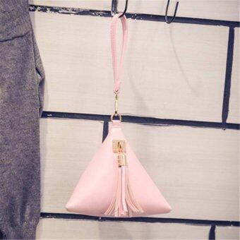 Handbag Pink กระเป๋าถือ พร้อมสายคล้องแขน สีชมพู