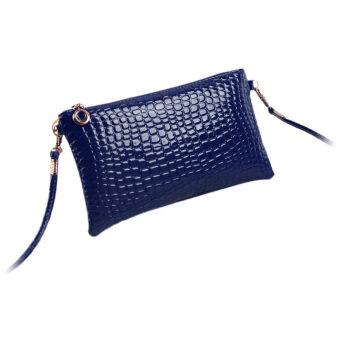 GETEK กระเป๋าสะพายหนังจระเข้ (สีน้ำเงิน)