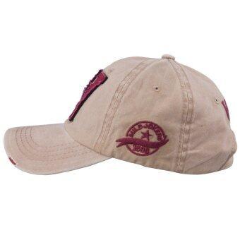หมวกกางเกงยีนส์ลายสำหรับกีฬากลางแจ้งกากี-ระหว่างประเทศ