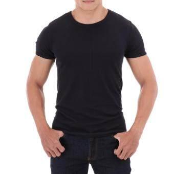 เสื้อยืดคอกลมแขนสั้นผู้ชาย สีพื้น แฟชั่น หลายสี t shirt