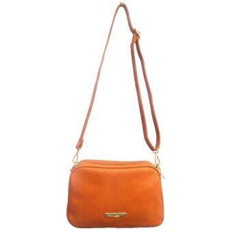 Colette crossbody กระเป๋าสะพายพาดลำตัว double zip รุ่น553246(brown)