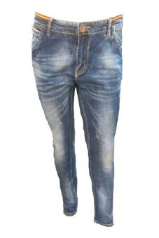EAY JEANS กางเกงขายาวยีนส์ยืด jea6878bl สีกรมฟอก