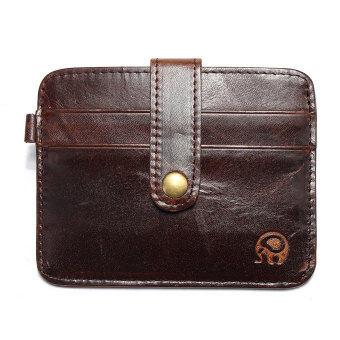 บางคนกระเป๋าสตางค์หนัง Pu มินิ Id ของผู้ถือบัตรเครดิตในกระเป๋าหนีบกระเป๋าถือกาแฟ
