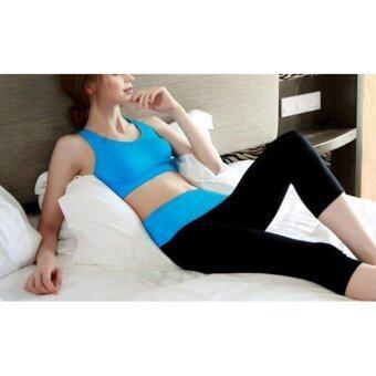 Exercise pants กางเกงออกกำลังกาย สีฟ้า