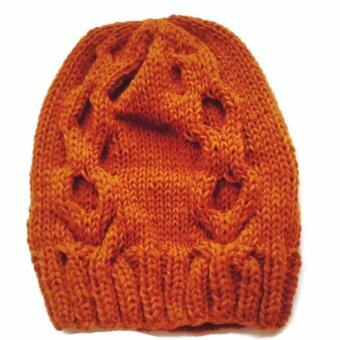 Handmade หมวกถักไหมพรมสีจีวรพระลาย 13