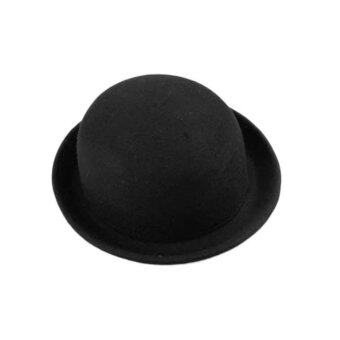 หมวกหมวกหมวกผ้าขนสัตว์เหมือนสีดำ