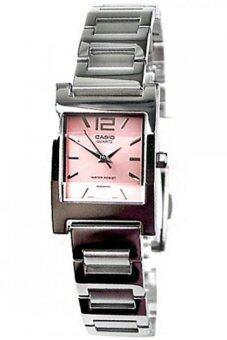 Casio นาฬิกาผู้หญิง สีเงิน สายสแตนเลส รุ่น LTP-1283D-4ADF