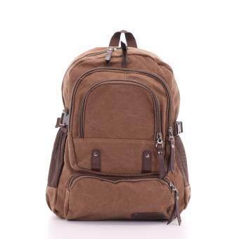 Bag Gammon กระเป๋าเป้แคนวาส (สีน้ำตาล)