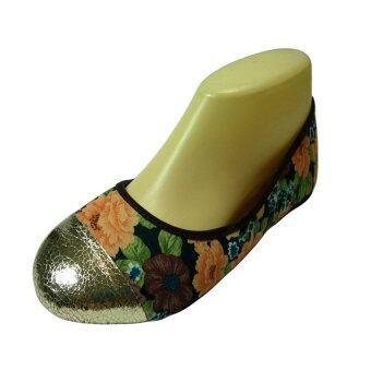 รองเท้าคัชชู ลายดอก
