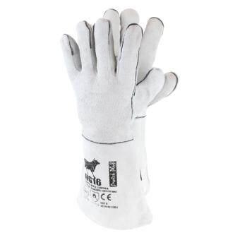 LWG16 ถุงมือหนัง งานเชื่อม ยาว 16 นิ้ว สีเทา 1 คู่