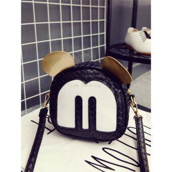 NW Fashion กระเป๋าสะพายแฟชั่นสตรี M-Mouse สีดำ