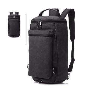 Bag Gammon กระเป๋าสะพาย กระเป๋าเป้ แคนวาส 3in1 (Black)