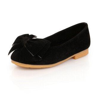 ใหม่เสื้อผ้าเด็กรองเท้าเด็กผู้หญิงเด็กแฟลตทรงธนูเงื่อนรองเท้า