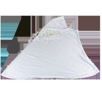 ผ้าฮิญาบปักเลื่อม (สีขาว)