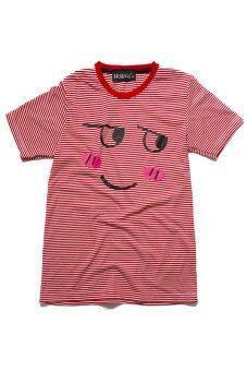 NOLOGO เสื้อยืดเด็ก รุ่น หน้าเขิล (สีริ้วแดง)