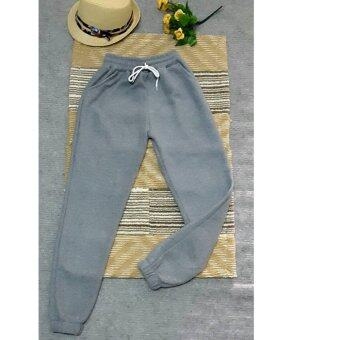 Panicha By mama กางเกงวอร์ม ขายาว สีเทาอ่อน ผ้าสำลี ผ้านิ่มใส่สบาย รุ่น MM-025