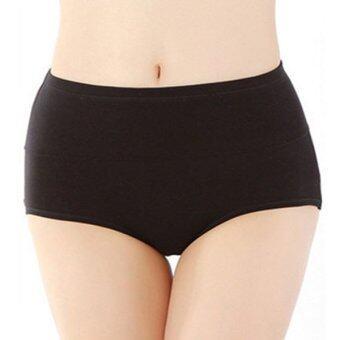 กางเกงในสลายไขมัน ด้วยแถบยางพารา เก็บหน้าท้องช่วงล่าง (สีดำ) หลังคลอดใส่ได้