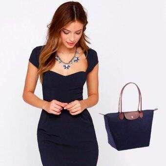 NuChon Bags กระเป๋าสะพายไหล่ LongLy Le Pliage Small tote bag - Navy