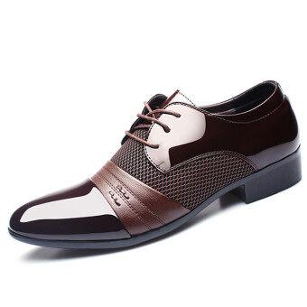ใหม่แต่งตัวสุภาพบุรุษรองเท้าลำลองรองเท้าหนังออกซฟอร์ดแต่งตัวลำลองธุรกิจ