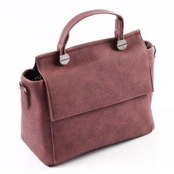 อ กระเป๋าแฟชั่นสะพายข้าง ถอดสายออกได้ (Burgundy)