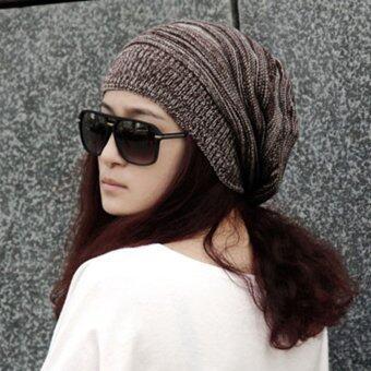สร้างสตรีเพศสวมหมวกคล้ายหมวกไหมพรมสุขาฤดูร้อนไซส์ใหญ่พิเศษหมวกสกีกาแฟ