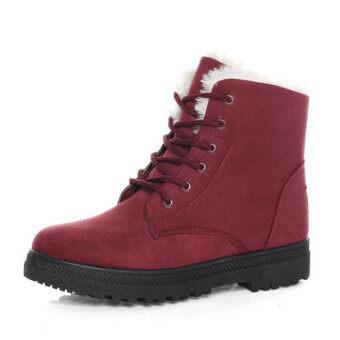 เธอสวมรองเท้าบู๊ตหิมะ Martin รองเท้าบู๊ตกันน้ำห้องน้ำร้านค้าโรงงานรองเท้าเกาหลี