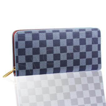 Nuchon Bag Women Wallet กระเป๋าสตางค์ใส่มือถือ Iphone6Plus Size M รุ่น Damier-Black
