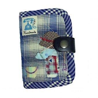 กระเป๋าใส่นามบัตรสีฟ้า