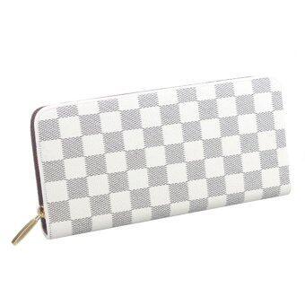 Nuchon Bag กระเป๋าสตางค์ใส่มือถือ Women Wallet Iphone6Plus Size M รุ่น Damier-White