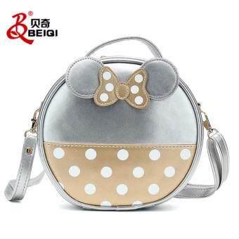 nightberry กระเป๋าสะพายข้างสีเงิน - nightberry0655